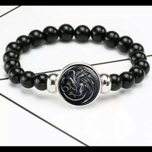 Game of Thrones Dragon Black Elastic Bead Bracelet